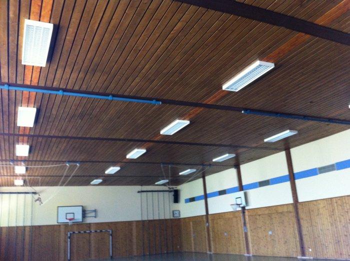 neue LED-Beleuchtung in der Turnhalle